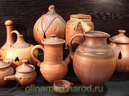 посуда из белой глины русская